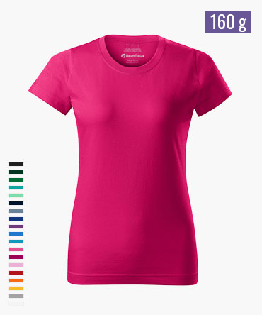 Koszulka damska BASIC - kolorowa