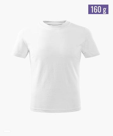 Koszulka dziecięca BASIC - biała