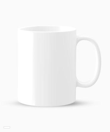 Kubek biały z białym środkiem