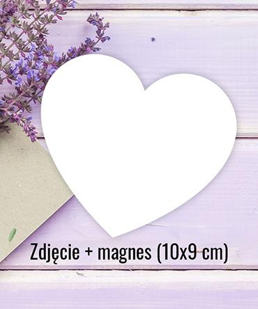 Fotomagnes serce 10x9 cm