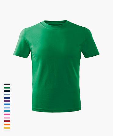 Koszulka dziecięca BASIC - kolorowa