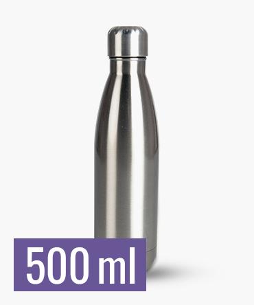 Butelka termiczna srebrna 500 ml